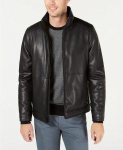 picture of Calvin Klein Men's Faux Leather Jacket Sale