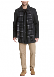 picture of Dockers Men's Weston Wool Blend Car Coat with Scarf Sale