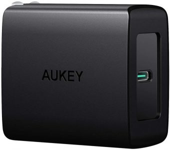 picture of AUKEY USB C Charger, Fast Charger 27W - iPhone, Airpods Pro, Switch, MacBook, etc
