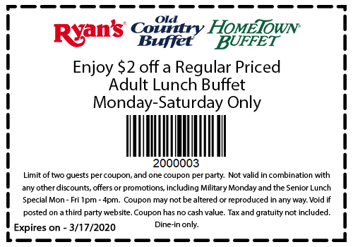 Old Country Buffet Coupon