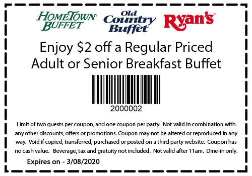 Ryan's Buffet Coupon