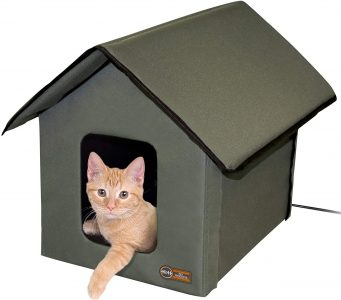 picture of K&H Pet Products Outdoor Kitty House, Insulated Cat Shelter (Heated)