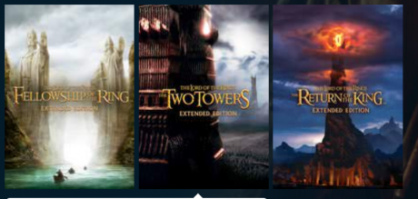 picture of Lord of the Rings Extended Edition Trilogy Vudu Sale