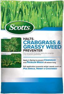 picture of Scotts Turf Builder Halts Crabgrass & Grassy Weed Preventer