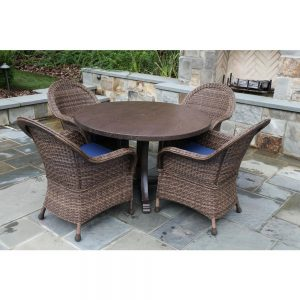 picture of Woodington 5-Piece Wicker Outdoor Dining Set Sale