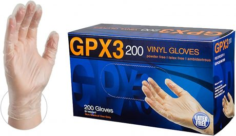 picture of Clear Vinyl Gloves, Box of 200 Sale