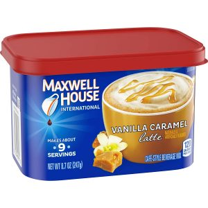 picture of Maxwell House International Cafe Vanilla Caramel Latte Instant Coffee (8.7 oz Tin) Sale
