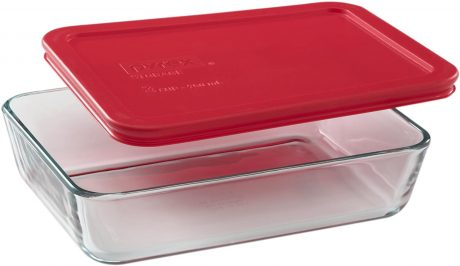 picture of Pyrex 3-Cup Rectangle Glass Storage Container w/ Lid Sale