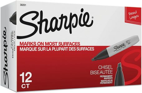 picture of Sharpie Chisel Tip Black Permanent Markers 12-pk Sale