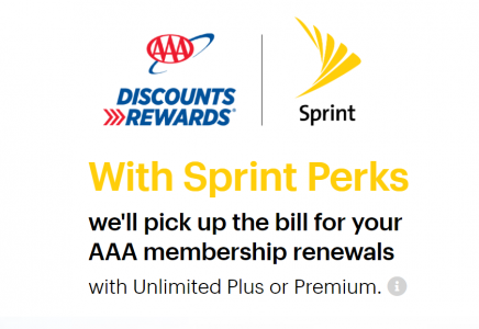 picture of Free AAA Memebership Renewals for Sprint Unlimited Plus or Premium