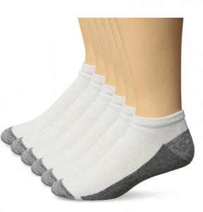 picture of Hanes Men's Comfortblend Max Cushion 6-pack White Low Cut Socks, Shoe Size: 6-12 Sale