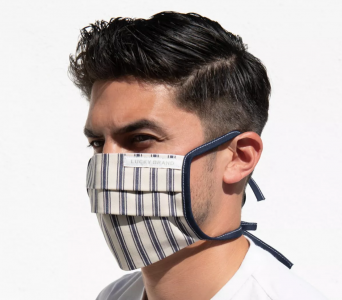 picture of Lucky Brand 5 Pack Pleated Cotton Masks