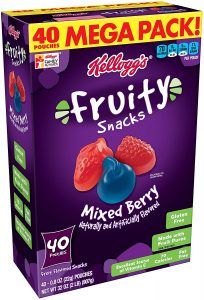 picture of Kelloggs Mixed Berry Fruity Snacks, 40pk, Sale