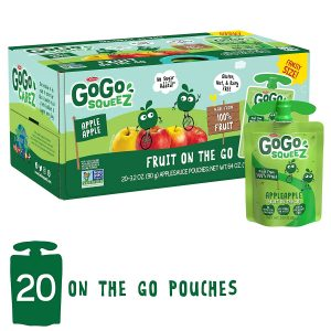 picture of GoGo squeeZ Applesauce on the Go 20 Pouches Sale