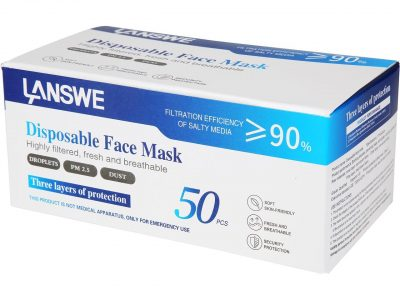 picture of Disposable Face Mask, Pack of 50, Sale