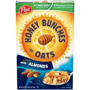 picture of Post Honey Bunches of Oats with Crispy Almonds, 18oz Box, Sale