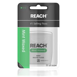 picture of Reach Waxed Dental Floss, Mint, 55 Yards Sale
