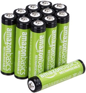 picture of 12-Pack of AmazonBasics AAA NiMH Precharged Rechargeable Battery Sale