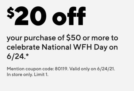 picture of Staples In-Store Coupon: $20 Off $50+