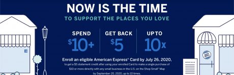 picture of Amex Offers: Eligible Small Business: Spend $10+ & Receive $5 Credit