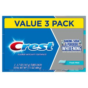picture of Crest Cavity and Tartar Protection Toothpaste, Whitening Baking Soda & Peroxide, 3pk Sale