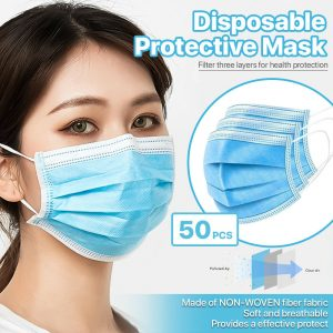picture of Disposable 3 Ply Face Non Medical Masks 50 Pack Sale