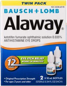 picture of Bausch + Lomb Alaway Antihistamine Eye Drops, 2pk, .034oz, Sale