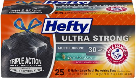 picture of Hefty 30 Gallon White Pine Ultra Strong Large Trash Bags White Pine 50-ct Sale