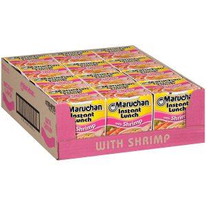 picture of Maruchan Instant Lunch Shrimp Flavor, 2.25 Oz, 12-pk Sale