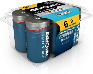 picture of Rayovac D Batteries, Alkaline D Cell Batteries (6 Battery Count) Sale