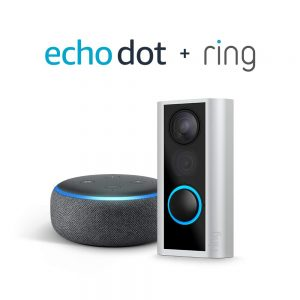 picture of Ring Peephole Cam with Echo Dot (3rd Gen) Sale