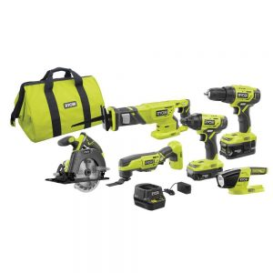picture of Ryobi 18V One+ Cordless 6-Tool Combo Kit Sale
