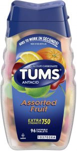 picture of TUMS Antacid Chewable Tablets for Heartburn Relief, Extra Strength, 96 Tablets Sale