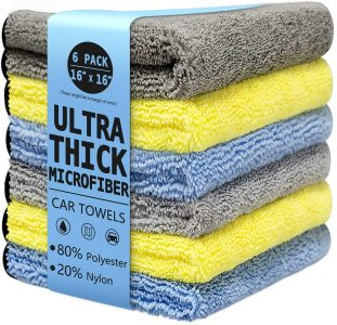 picture of 16'' x 16'' Large & Thick Microfiber Cleaning Cloth 6pk Sale