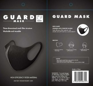 picture of Allure Guard Face Mask Black Sale
