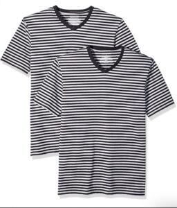 picture of Amazon Essentials Men's Stripe V-Neck T-Shirts Sale