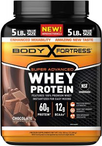 picture of Body Fortress Super Advanced Whey Protein Powder, Chocolate, 5 Lbs Sale