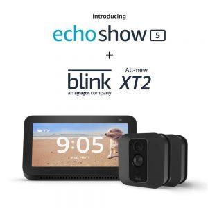 picture of Echo Show 5 Smart Display Plus 2 Blink Mini Indoor/Outdoor Cameras