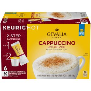 picture of Gevalia Cappuccino K-Cups w/ Froth Packets, 36-pk Sale