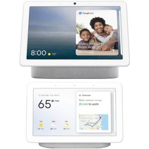 picture of Google Nest Hub Max Smart Display with Google Assistant + Nest Home Hub Chalk Bundle