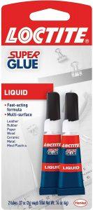 picture of Loctite Super Glue Liquid 2 Gram Squeeze Tube, 2 Pack