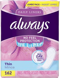 picture of Always Thin Daily Wrapped Liners 162-count Sale
