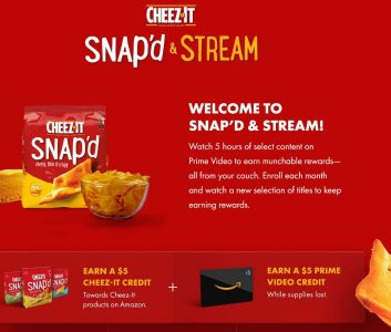 picture of Watch 5 hours of select Prime Video, earn a Cheez-It