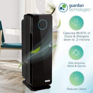 picture of Germ Guardian AC4300WPT True HEPA Filter Air Purifier, UV Light Sanitizer Sale