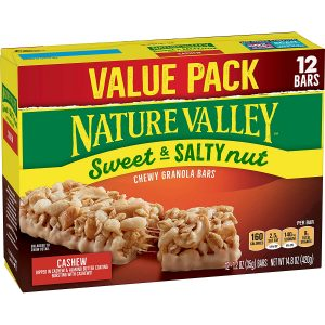 picture of Nature Valley Cashew Sweet & Salty Nut Granola Bars, 12 Count, Sale