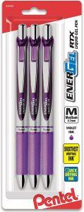 picture of Pentel Pink BCA Pentel EnerGel RTX Retractable Gel Ink Pen Violet Ink Sale