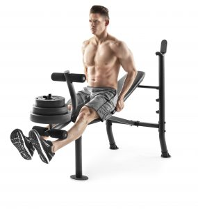 picture of Weider XR 6.1 Adjustable Bench with 100lb Weight Set and Leg Developer