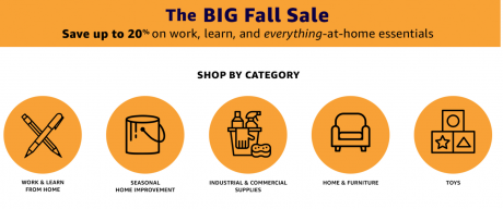 picture of The BIG Fall Sale - Up to 20% work, learn, and everything at home essentials