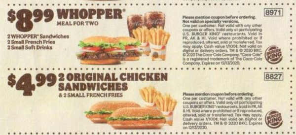 Burger King Coupons And Discounts