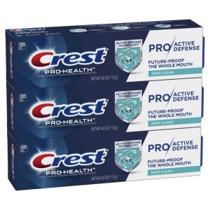 picture of Crest Pro-Health Pro|Active Defense Deep Clean Toothpaste, 4.0 oz, Pack of 3 Sale